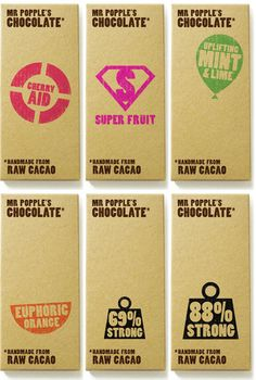 curvedwhite:    Mr. Popple's Chocolate packaging designed by KO Creative