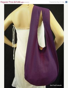 ON SALE SALE Cotton Bag Purse Crossbody by BenThaiProducts on Etsy, $7.27