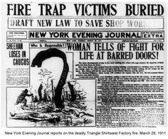 Triangle Shirtwaist Factory Fire of 1911