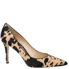 Gianvito Rossi pumps in black and nude pony print. From Wunderl in Austria. Shop.wunderl.com
