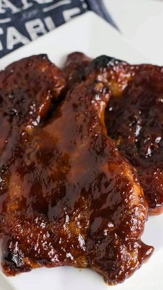 Easy bbq pork steaks in the oven! Sauce, spice and bake! Tender as can be! Easy bbq pork steaks in the oven! Sauce, spice and bake! Tender as can be! Grilled Pork Steaks, Bbq Steak, How To Grill Steak, Pork Shoulder Steak, Oven Pork Chops, Baked Pork Chops, Bbq Porkchops In Oven, Cube Steak In Oven, Gourmet