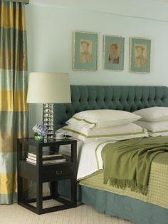 great color scheme, love those curtains