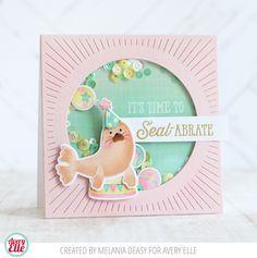 Avery Elle: Fun Seal-abrate Shaker Card by Melania Deasy