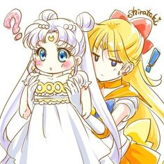 Sailor Venus helps Princess Serenity get ready Sailor Moon Crystal, Sailor Moon Fan Art, Sailor Moon Character, Sailor Moon Manga, Sailor Venus, Sailor Pluto, Sailor Neptune, Sailor Mars, Chibi