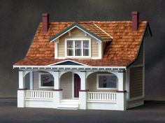 1/2 Inch Scale Classic Bungalow Dollhouse Kit