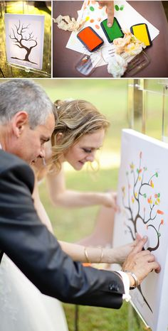fingerprint guest book tree of love |photography by xaviernavarro.com| idoityourself.com.au #wedding #weddingtree #guestbook #guestbooktree #fingerprinttree #thumbprinttree