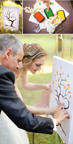 fingerprint guest book tree of love |photography by xaviernavarro.com| idoityourself.com.au #wedding #weddingtree #guestbook #guestbooktree #fingerprinttree #thumbprinttree