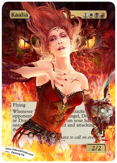 Kaalia of the Vast - MTG Altered Art Print. I love this sooo much!! I want it!