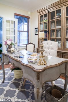 French Country Office Decor Ideas: How One Item Can Unify a Room – House Decor Tips French Country Rug, French Country Bedrooms, French Country Living Room, Country Farmhouse Decor, French Decor, French Country Decorating, French Style, Southern Living, Country Kitchen