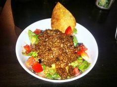 "Vegan taco salad with veggie ground ""beef"""
