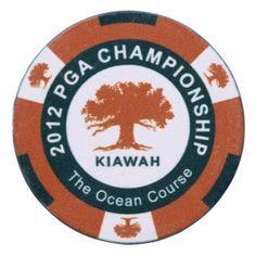 2012 PGA Championship Golf Ball Marker Kiawah Ocean Course Alt Style Poker Style
