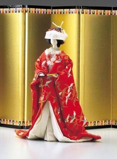 Japanese paper doll (bridal costume)