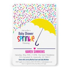 Perfect Sprinkle Baby Shower Invitations. There Are Many Things We Need To Prepare  Before Having A Baby Shower Party. One Of Them Is Preparing An Invitation.