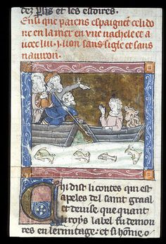 Celidoine in a boat with a lion