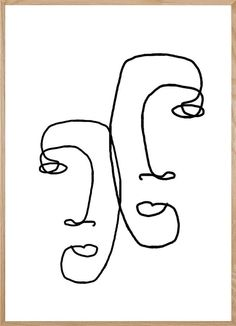 I LOOK OVER AT YOU. This continuous line abstract artwork is part of our minimalist collection and is an original piece of work designed in our Warsaw Studio. Line Drawing Tattoos, Face Line Drawing, Single Line Drawing, Iso Drawing, Abstract Face Art, Abstract Drawings, Art Drawings, Art Abstrait, Minimalist Art