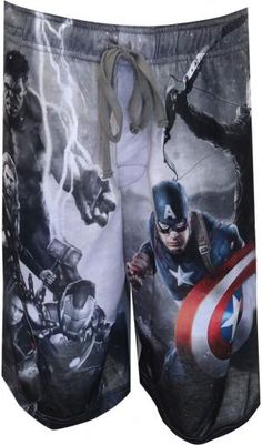 WebUndies.com Marvel Comics Avengers Standoff Lounge Shorts