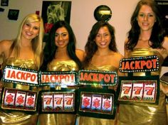 """I'm Feeling Lucky,"" everyone dresses up in casino related attire- could modify to powerball and use for bid day Vegas Theme, Vegas Party, Casino Night Party, Casino Party Decorations, Casino Theme Parties, Party Themes, Group Halloween, Halloween Costumes, Sorority Costumes"