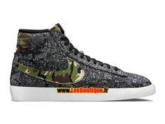 "Nike Blazer Mid Premium Vintage ""Camo Swoosh"" - Chaussure Nike Sportswear Pas…"