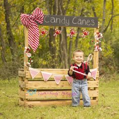 Candy Cane mini session photo for Christmas