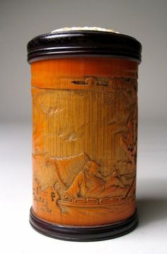 Bamboo Cricket Cages for Sale   Fine Chinese Carved Bamboo and Ivory Cricket Box