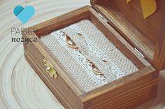 """Personalizowane pudełko na obrączki wzór """"R U S T I C ring box I"""""""