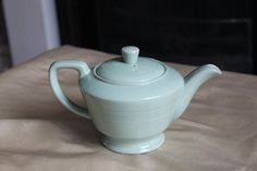 Woods Ware Small Teapot in Beryl Green Utility Ware 1940s Vintage Post War by AtticBazaar on Etsy