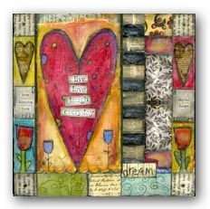 use of rectangles with hearts canvas