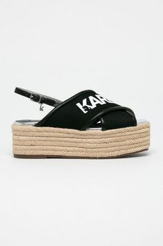 Karl Lagerfeld - Sandale - Papuci si sandale (1) Karl Lagerfeld, Adidas Samba, Adidas Sneakers, Espadrilles, Shoes, Fashion, Sandals, Espadrilles Outfit, Moda