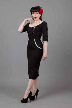 Glamour Bunny Two Tone Dress Black