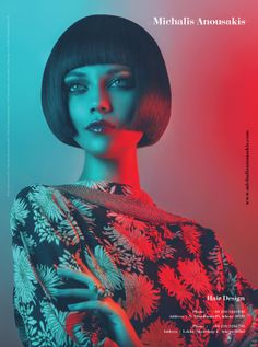 Michalis Anousakis Hair Design W/2012 by Vasilis Topouslidis, via Behance