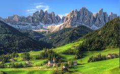 mountain, Village, Summer, Forest, Tyrol, Grass, Nature, Landscape, Green, Morning HD Wallpaper Desktop Background