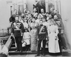 Royal group photograph taken on the occasion of the coming-of-age of Prince Alfred of Edinburgh as Hereditary Duke of Coburg, Coburg, c.1892...