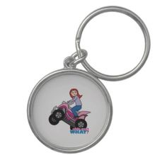 Adorable personalized ATV Keychain made with the Girls Can't WHAT? Colorizer. http://www.girlscantwhat.com/girls-gift/atv-four-wheeler/