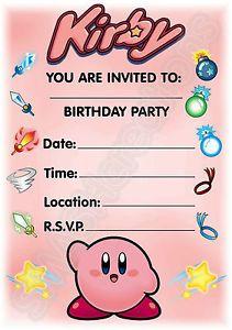 diy kirby birthday party joey bday pinterest birthdays