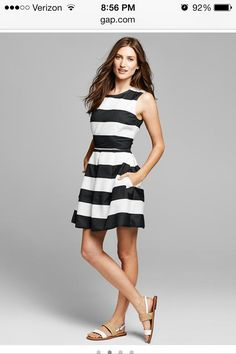 Gap rugby fit & flare dress