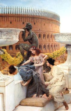 "Golden Kite ""The Coliseum"" Adapted from artwork 'The Colosseum' by Sir Lawrence Alma-Tadema (Dutch, Lawrence Alma Tadema, Dutch Painters, Pre Raphaelite, Art Moderne, Classical Art, Fine Art, Ancient Rome, Art Plastique, Roman Empire"