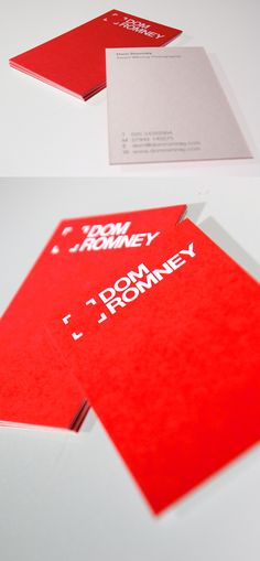 14 best red business cards images on pinterest carte de visite currently browsing dom romney photographer for your design inspiration find this pin and more on red business cards reheart Images