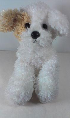 "Ty Beanie Buddies Buddy White Puppy Dog Terrier Bean Bag Stuffed Animal Toy 10""  #Ty"