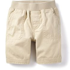Tea Collection Canvas Patch Pocket Baby Shorts