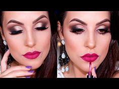 Maquiagem Delicada e Marcante com Delineado Esfumado - YouTube