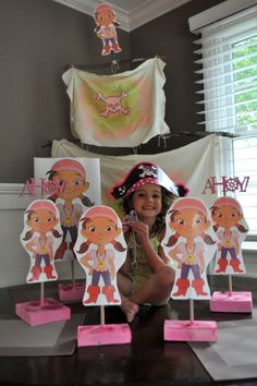 Pirate Theme Girl Party - Izzy pirate from Jake and the Neverland Pirates