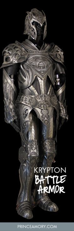 Medieval Jor El/Man of Steel Spinoff by Prince Armory This is our fantasy take on Jor-El's Kryptonian battle armor featured in Man of Steel.  Made from hardened leather and painted with metallic effects.  Components are articulated for mobility.