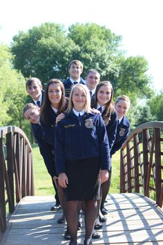 this is our 2012 ffa officer team. tried out this pose for our pictures and thought it turned out great!