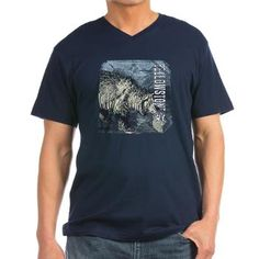 Vintage Wildlife-GrizzlyBear Men's V-Neck T-Shirt