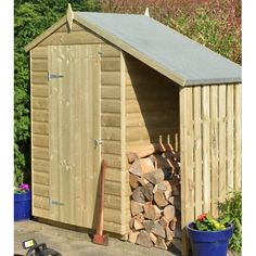 Rowlinson 5 Ft. W x 3 Ft. D Wooden Storage Shed
