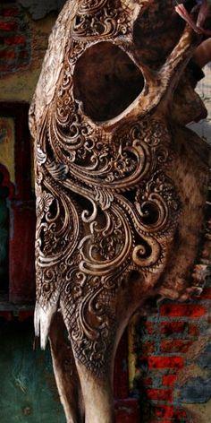 Intricate bone carvings