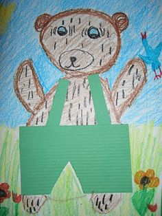 DREAM DRAW CREATE Art Lessons for Children: Kindergarten students draw Corduroy Bear