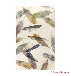 Feather Contemporary Art Watercolor Plumes Product Type: Giclee Finish: Crackle Size: 30 x 50 Artist: Emma Brooks Fall Home Decor, Autumn Home, Bliss Home And Design, Feather Design, Feather Pattern, Homesense, Bath, Color Of The Year, Decoration