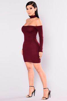 Liv Sweater Dress - Burgundy