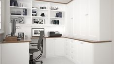 Do you need to set up an effective home office on a budget? Check out these thrifty pointers for home office furniture ideas - including workdesks, chairs as well as storage. Home Office Cabinets, Home Office Chairs, Home Office Furniture, Furniture Ideas, Study Furniture Design, Architectural Section, Study Rooms, Modern House Plans, Modern Bedroom